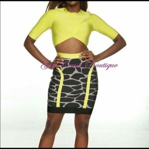 Dresses & Skirts - Bandage Corp Top and Skirt Set